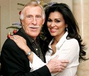 Bruce Forsyth with his 3rd wife, former 'Miss World' Wilnelia Merced