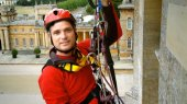 Jonathan Foyle at Blenheim Palace in 'Climbing Great Buildings'