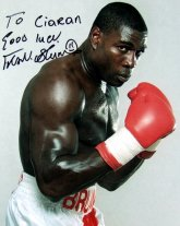 Frank Bruno signed photograph