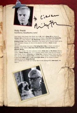 Philip Franks has signed his page in the programme for 'Our Man in Havana'