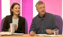 Philip Franks with Susie Dent on 'Countdown'