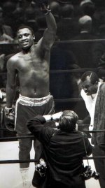 Joe Frazier after his fight with Bonavera in 1966