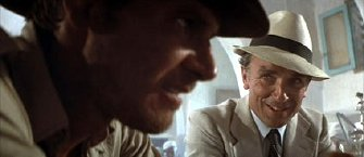 Paul Freeman and Harrison Ford in 'Raiders of the Lost Ark'