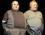 Dawn French & Jennifer Saunders as the two fat men in 'French & Saunders'