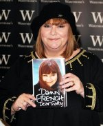 Dawn French with her autobiography 'Dear Fatty'