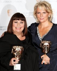 Dawn French & Jennifer Saunders with their BAFTA Fellowship Awards