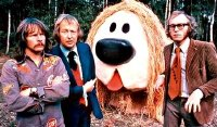The Goodies with Dougal from 'The Magic Roundabout'