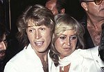 Susan George with Andy Gibb from 'The Bee Gees'