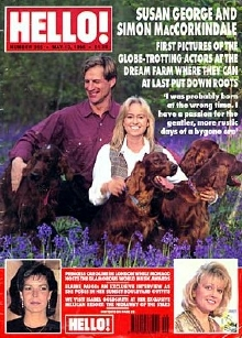 Susan George & Simon MacCorkindale on the cover of Hello! Magazine, May 1995