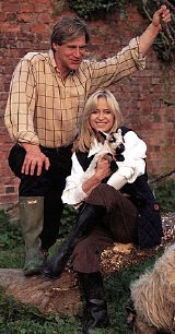 Susan George and Simon MacCorkindale in Hello! Magazine