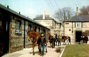Captain Ryan Price's Downs Stables at Findon in 1958