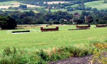 The gallops and schooling fences at Downs Stables