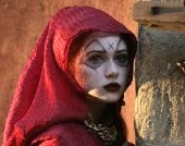Karen Gillan as the Soothsayer in the Doctor Who episode 'The Fires of Pompeii'