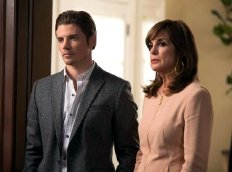 Josh Henderson as John Ross Ewing & Linda Gray as Sue Ellen in 'Dallas' (2012)