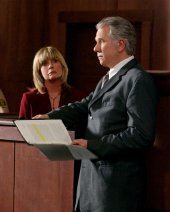 Linda Gray & John Larroquette in 'McBride: It's Murder, Madam' (2005)