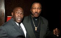 Emile Griffith & Joe Frazier at the premiere of 'Ring of Fire'