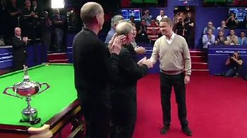 Former World Champions form a guard of honour after Stephen Hendry announced his retirement in May 2012