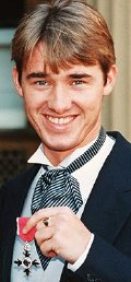 Stephen Hendry after receiving his MBE in 1993