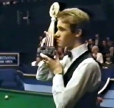 Stephen Hendry wins the 'British Open' in 1988, defeating Mike Hallett in the final at the Assembly Rooms in Derby