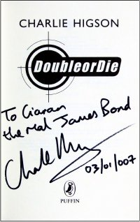 Signed title page of 'Double Or Die'