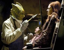 Richard Hope & Karen Gillan in the episode 'Cold Blood' from the TV series 'Doctor Who' (2012)