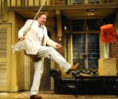 Richard Hope in 'Noises Off' at the Ambassadors Theatre in 2008