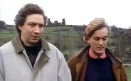 Richard Hope as Roy Shearer & Simon Shepherd as Dr Will Preston in the episode 'A Normal Life' from the TV series 'Peak Practice' (1995)
