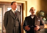 Richard Hope as Supt. Harold Spence & David Suchet as Hercule Poirot in the episode 'Taken at the Flood' from the TV series 'Agatha Christie: Poirot' (2006)