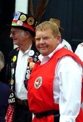 Geoffrey Hughes was made an 'Honorary Squire' of the Dartington Morris Men