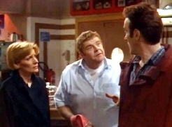Diane Weston, Geoffrey Hughes & Joe McGann in 'The Upper Hand' (1993)