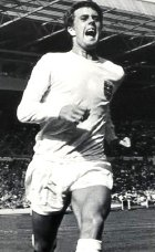 Geoff Hurst playing for England v. Argentina in 1966