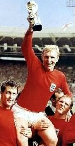 Hurst, Moore & Wilson celebrate after the World Cup final