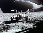 Dave Scott took this photograph of James Irwin and the Lunar Rover on  the Moon's surface
