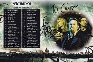 Eddie Izzard signed dvd cover for 'The Day of the Triffids'