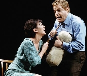 Eddie Izzard and Victoria Hamilton in 'A Day in the Death of Joe Egg'