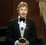 Derek Jacobi with his BAFTA Award for 'I, Claudius' in 1977