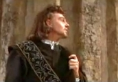Derek Jacobi's film debut as Cassio in Shakespeare's 'Othello'