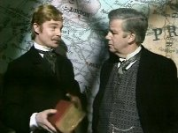 Derek Jacobi as William Drew with Richard Pearson in 'The Rivals of Sherlock Holmes' (1973)
