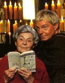 Derek Jacobi with Ellis peters, author of the Cadfael stories