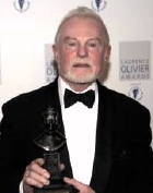 Derek Jacobi with his Olivier Award for 'Twelfth Night' (2009)