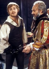 Derek Jacobi & Patrick Stewart in the TV version of Shakespeare's 'Hamlet' in 1980