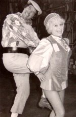 Jack Douglas and Barbara Windsor in Aladdin
