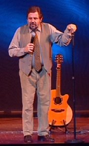 Jethro on stage at Torquay in 2003