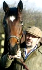 Jethro with his racehorse 'Flying Iris'