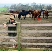 Jethro with some of his horses