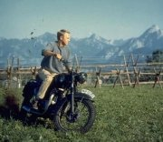 Steve McQueen in a scene from 'The Great Escape'