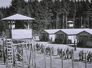 Stalag Luft III as portrayed in the film 'The Great Escape'