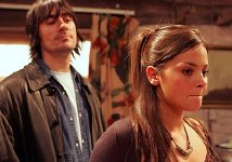 Jenna-Louise Coleman as Jasmine Thomas & Jeff Hordley as Cain Dingle in 'Emmerdale'