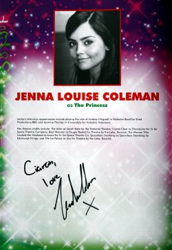 Jenna Louise Coleman autographed programme for 'Jack and the Beanstalk'