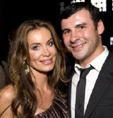 Joe Calzaghe with former girl friend Jo-Emma Lavin